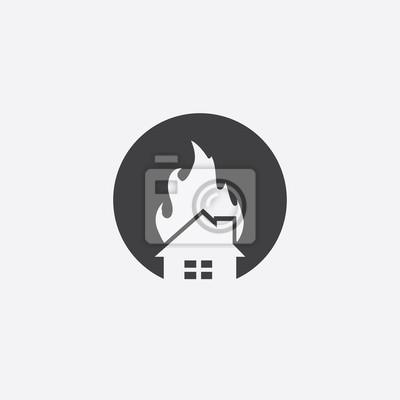 Home fire schneiden identität vorlage symbol fototapete ...