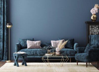 Fototapete Home mockup, modern interior background, 3d render