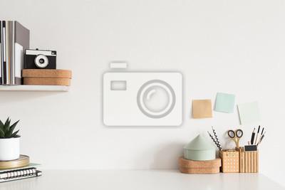 Fototapete Home office desk. Creative workspace. Mock up.