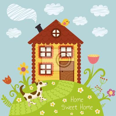 Home süße home Vektor-Illustration