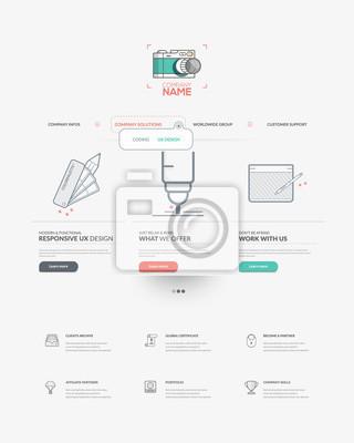 Homepage-vorlage für persönliche oder unternehmen business-portfolio ...