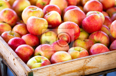 Fototapete Honey crisp apples at a local outdoor market
