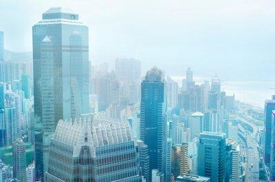 Fototapete Hong Kong Business-Center