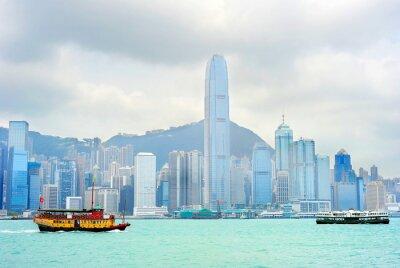 Fototapete Hong Kong Fähre