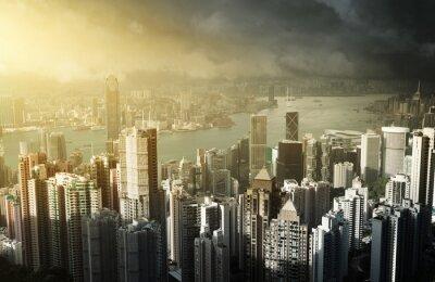 Fototapete Hong Kong Insel vom Victoria Peak