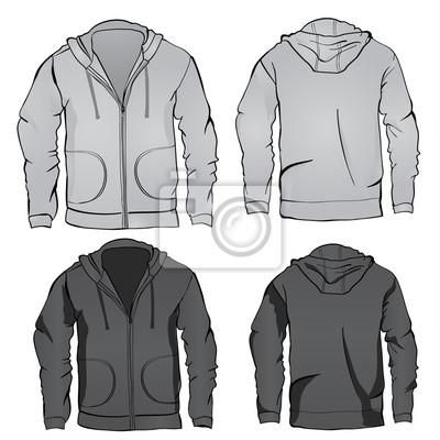 Hoodie-sweatshirt-vorlage fototapete • fototapeten Hülse, Bekleidung ...