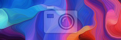 Fototapete horizontal artistic colorful abstract wave background with royal blue, moderate pink and very dark magenta colors. can be used as texture, background or wallpaper