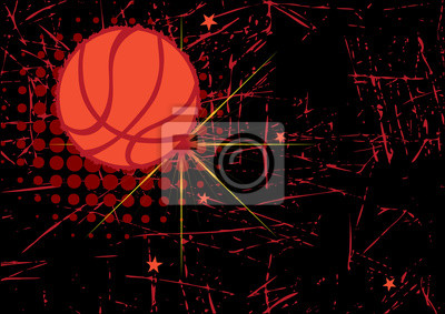 Horizontal basketball poster.Abstract background