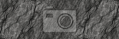 Fototapete horizontal black stone texture for pattern and background