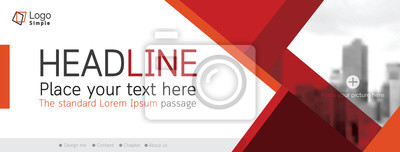 Fototapete Horizontal web banner, vector template, with space for your picture
