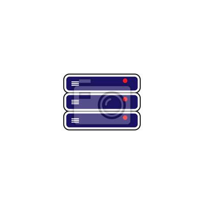 Hosting-server-stack-vorlage-vektor fototapete • fototapeten ...