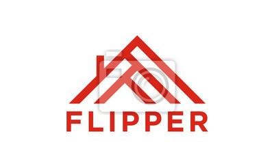 House flipper logo design inspiration mit initial f ...