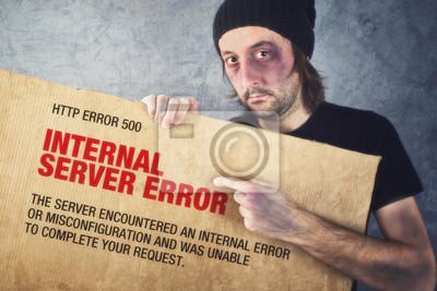 Fototapete HTTP-Fehler 500, Internal Server Error Seite Konzept