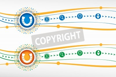 Hufeisen Symbol Auf Hintergrund Für Banner Web Website Design