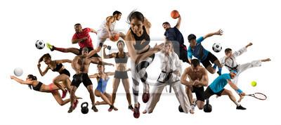 Fototapete Huge multi sports collage athletics, tennis, soccer, basketball, etc