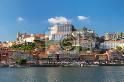 Fototapete Hügel mit Altstadt von Porto, Portugal