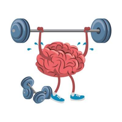 Human brain intelligence and creativity cartoons