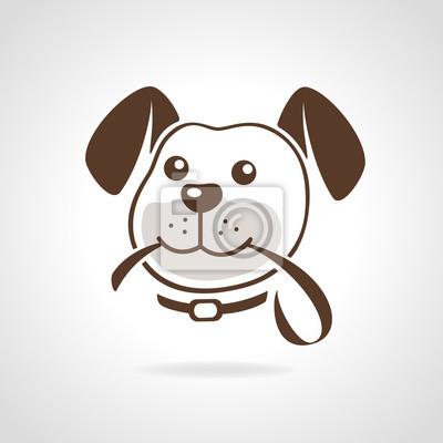 Hund mit Leine