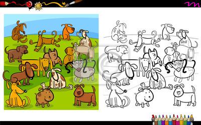 Hunde Gruppe Ausmalbilder Seite Fototapete Fototapeten Aufgabe