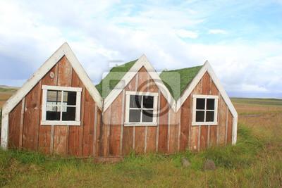 Hutten Holzhauschen Auf Island Fototapete Fototapeten Tour
