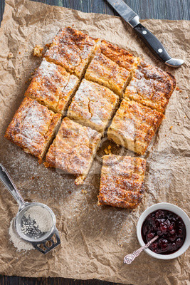 Huttenkase Auflauf Mit Quinoa Kuchen Mit Kase Und Quinoa Fototapete