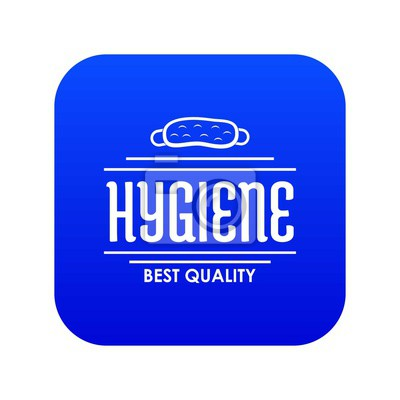 Hygiene bacteria icon blue vector isolated on white background