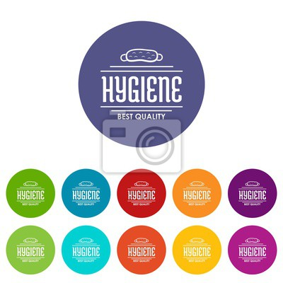 Hygiene bacteria icons color set vector for any web design on white background