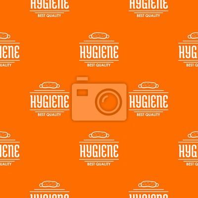 Hygiene bacteria pattern vector orange for any web design best
