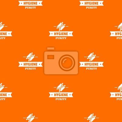 Hygiene ear pattern vector orange for any web design best