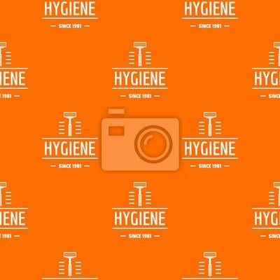 Hygiene face pattern vector orange for any web design best