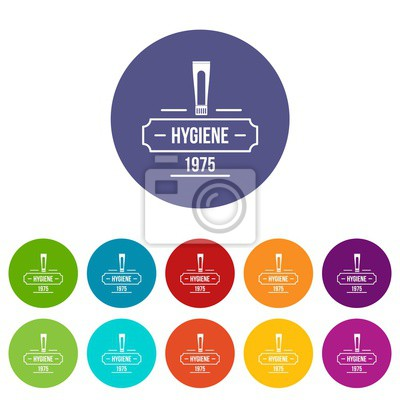 Hygiene icons color set vector for any web design on white background