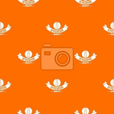 Hygiene lipstick pattern vector orange for any web design best