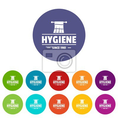Hygiene morning icons color set vector for any web design on white background