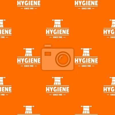Hygiene morning pattern vector orange for any web design best