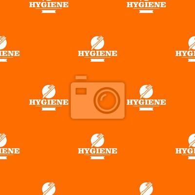 Hygiene mouth pattern vector orange for any web design best