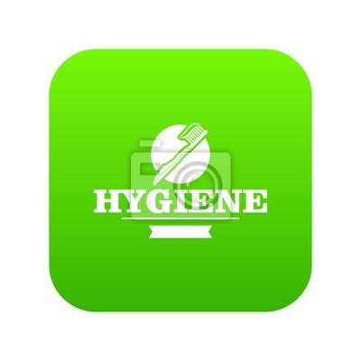 Hygiene-Mundikonen-Grünvektor lokalisiert auf weißem Hintergrund