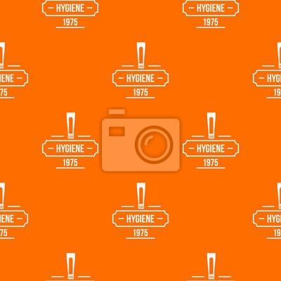Hygiene pattern vector orange for any web design best