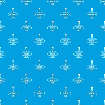 Hygiene pattern vector seamless blue