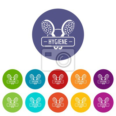 Hygiene shower icons color set vector for any web design on white background