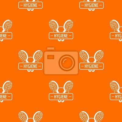 Hygiene shower pattern vector orange for any web design best