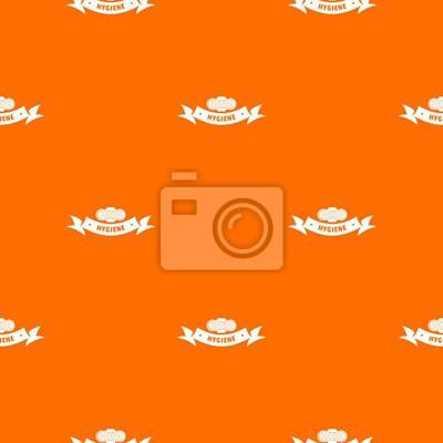 Hygiene wound pattern vector orange for any web design best