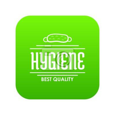 Hygienebakterienikonen-Grünvektor lokalisiert auf weißem Hintergrund