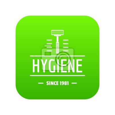 Hygienegesichtsikonen-Grünvektor lokalisiert auf weißem Hintergrund