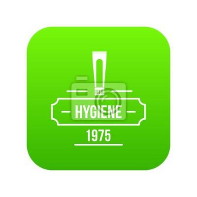 Hygieneikonen-Grünvektor lokalisiert auf weißem Hintergrund