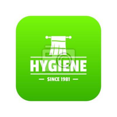 Hygienemorgenikonen-Grünvektor lokalisiert auf weißem Hintergrund