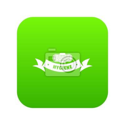 Hygienewundikonen-Grünvektor lokalisiert auf weißem Hintergrund