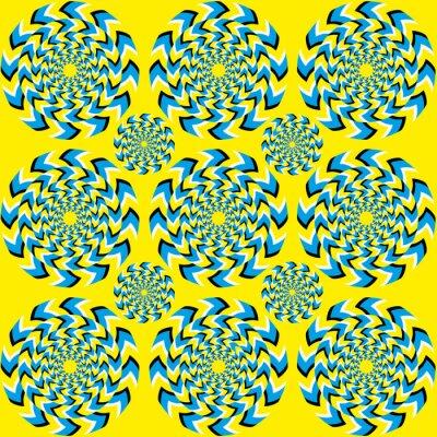 Fototapete Hypnotische der Rotation