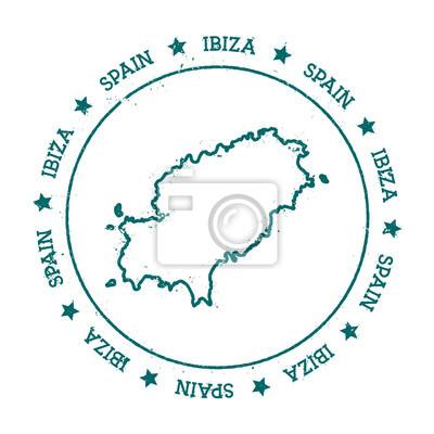 Ibiza Karte Umriss.Fototapete Ibiza Vektor Karte Distressed Reise Stempel Mit Text Um Einen