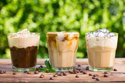 Fototapete Ice Kaffee mit Milch und Sahne