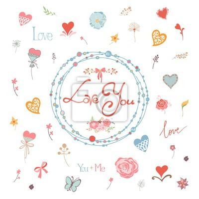 Ich Liebe Dich Blumen Hintergrund Vorlage Fur Die Erstellung